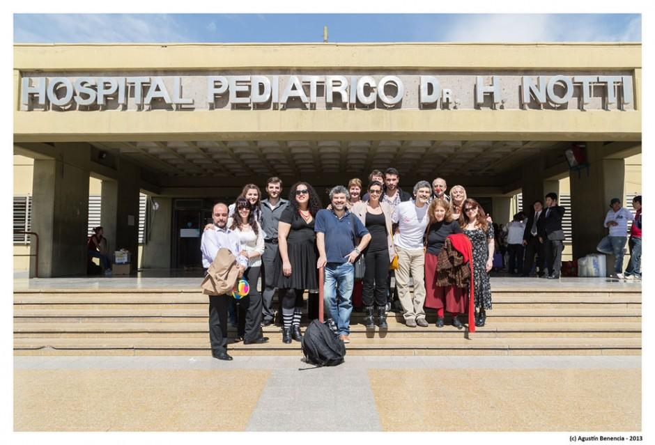 Hospital de niños Dr.Humberto Notti, Mendoza. Gira Nacional.